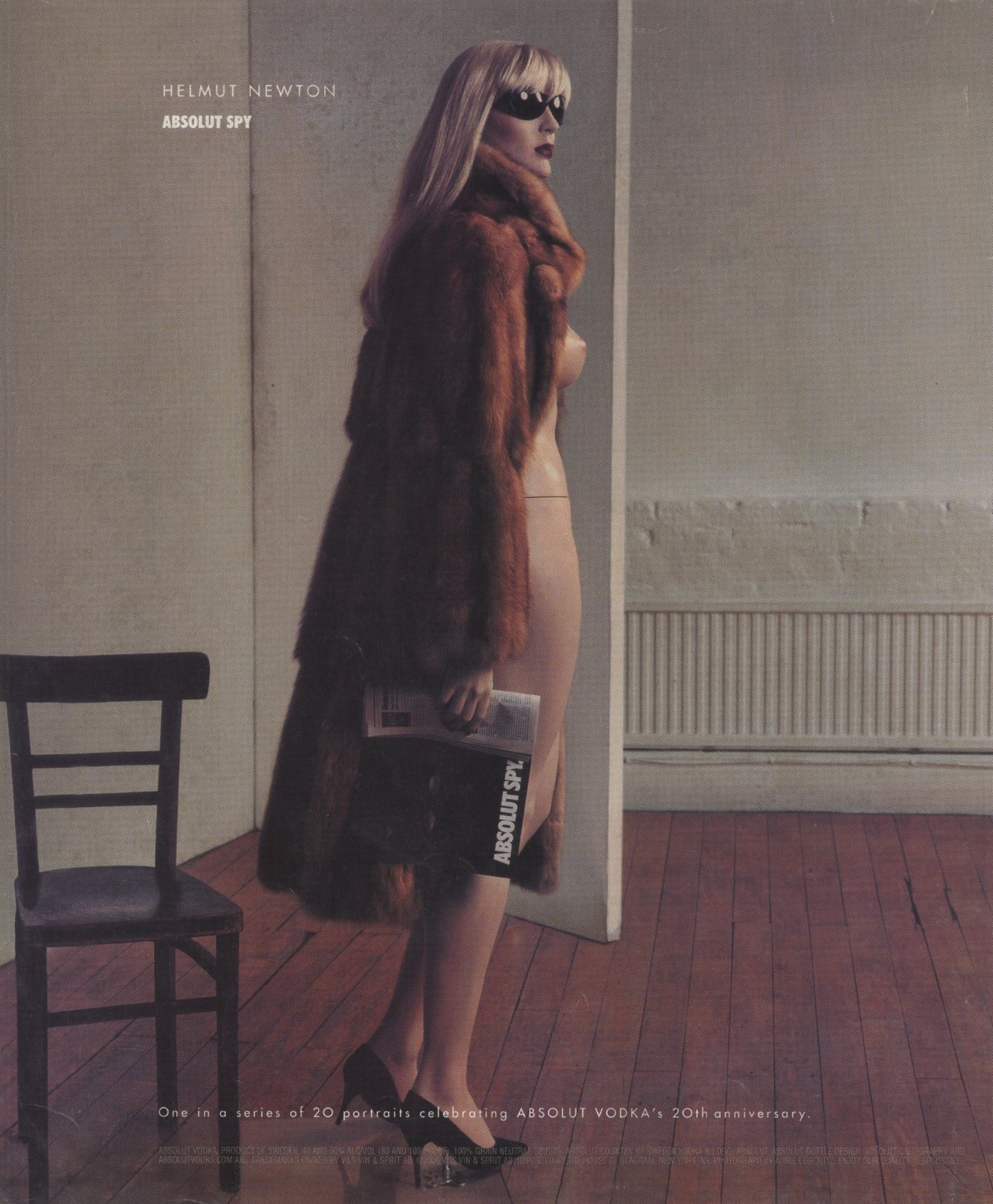 ABSOLUT SPY | ABSOLUT VODKA'S 20TH ANNIVERSARY | PHOTOGRAPHY HELMUT NEWTON | AMERICAN PHOTO | SEPTEMBER/OCTOBER 2000