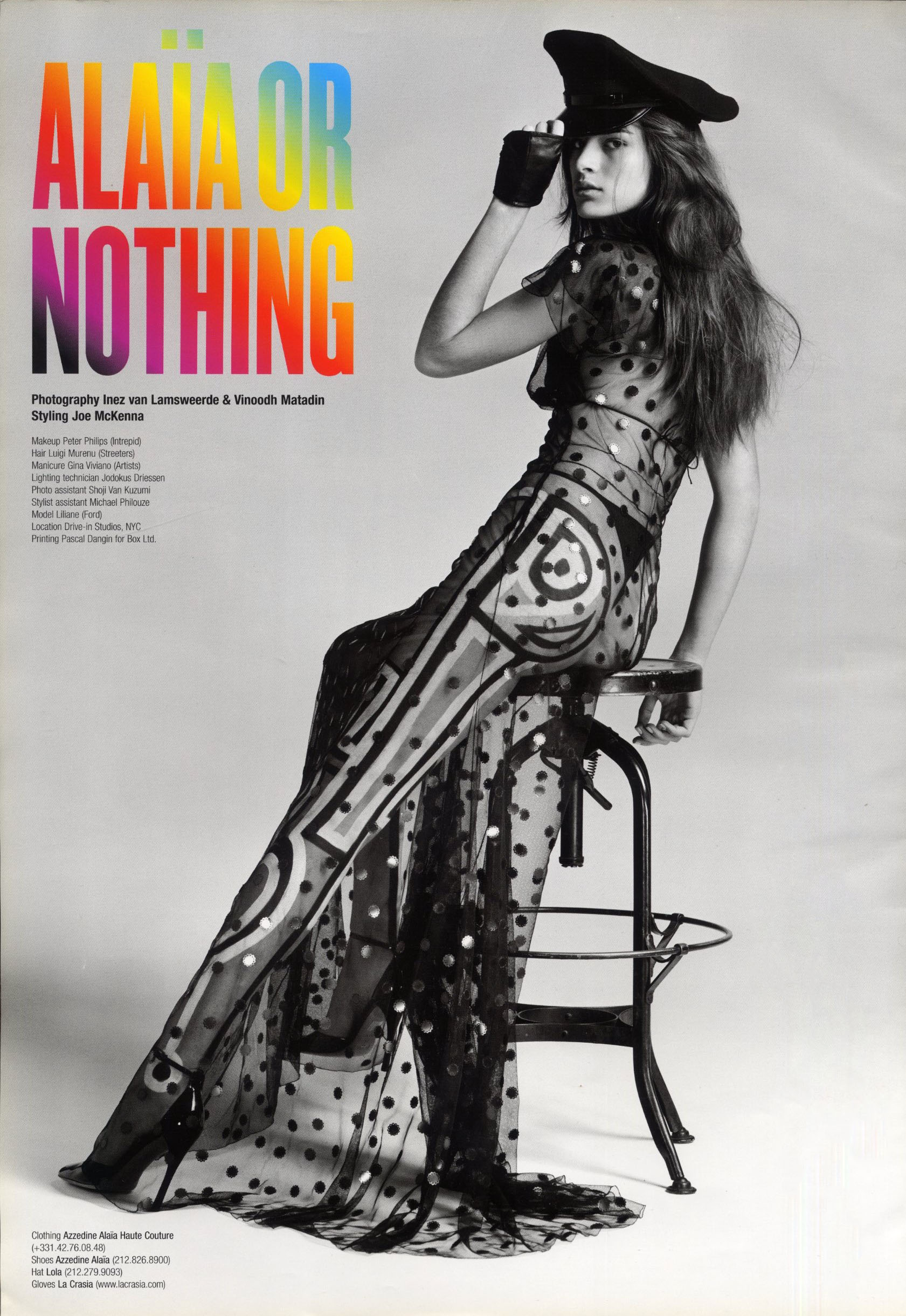 ALAIA OR NOTHING | PHOTOGRAPHY INEZ VAN LAMSWEERDE & VINOODH MATADIN | STYLING JO MCKENNA | V 23 | MAY/JUNE 2003