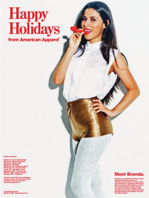 AMERICAN APPAREL | HOLIDAYS CARD