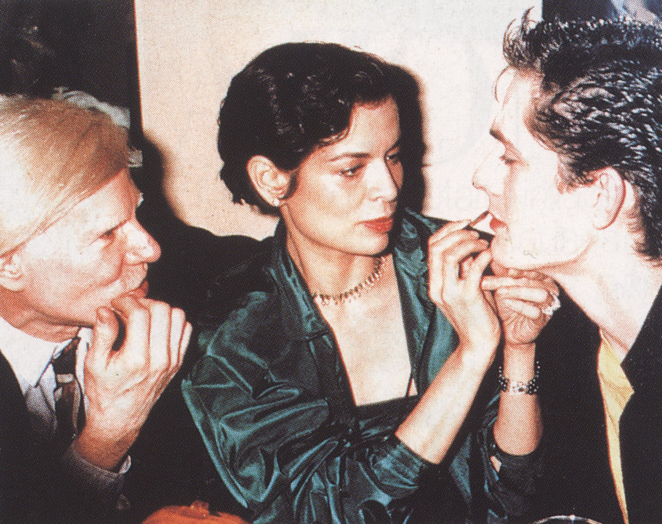 ANDY WARHOL, BIANCA JAGGER AND RUPERT EVERETT VOGUE PARIS N° 807 MAY 2000