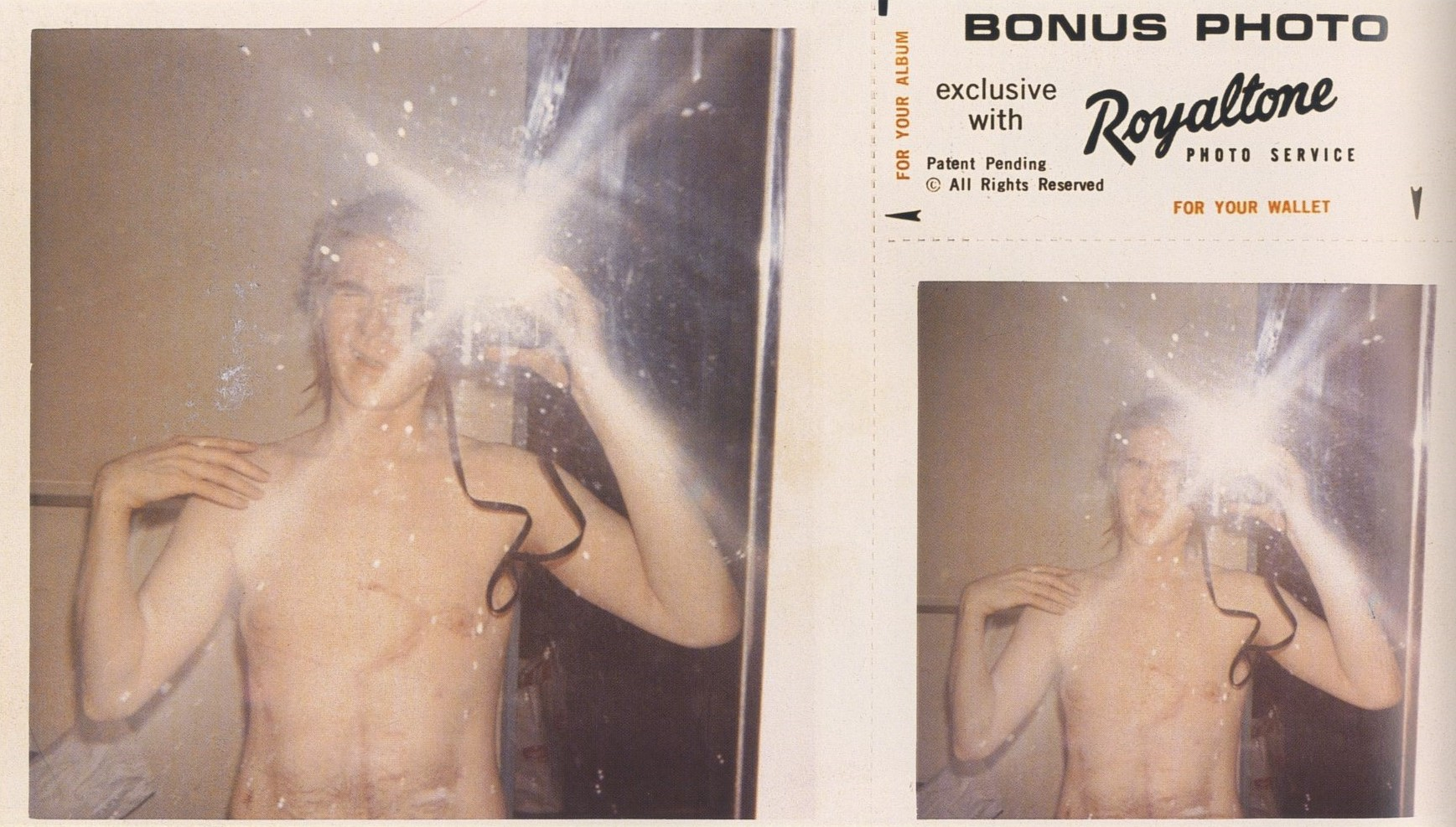 ANDY WARHOL | POLAROID SELF-PORTRAIT IN COLUMBUS HOSPITAL | NEW YORK | 1968