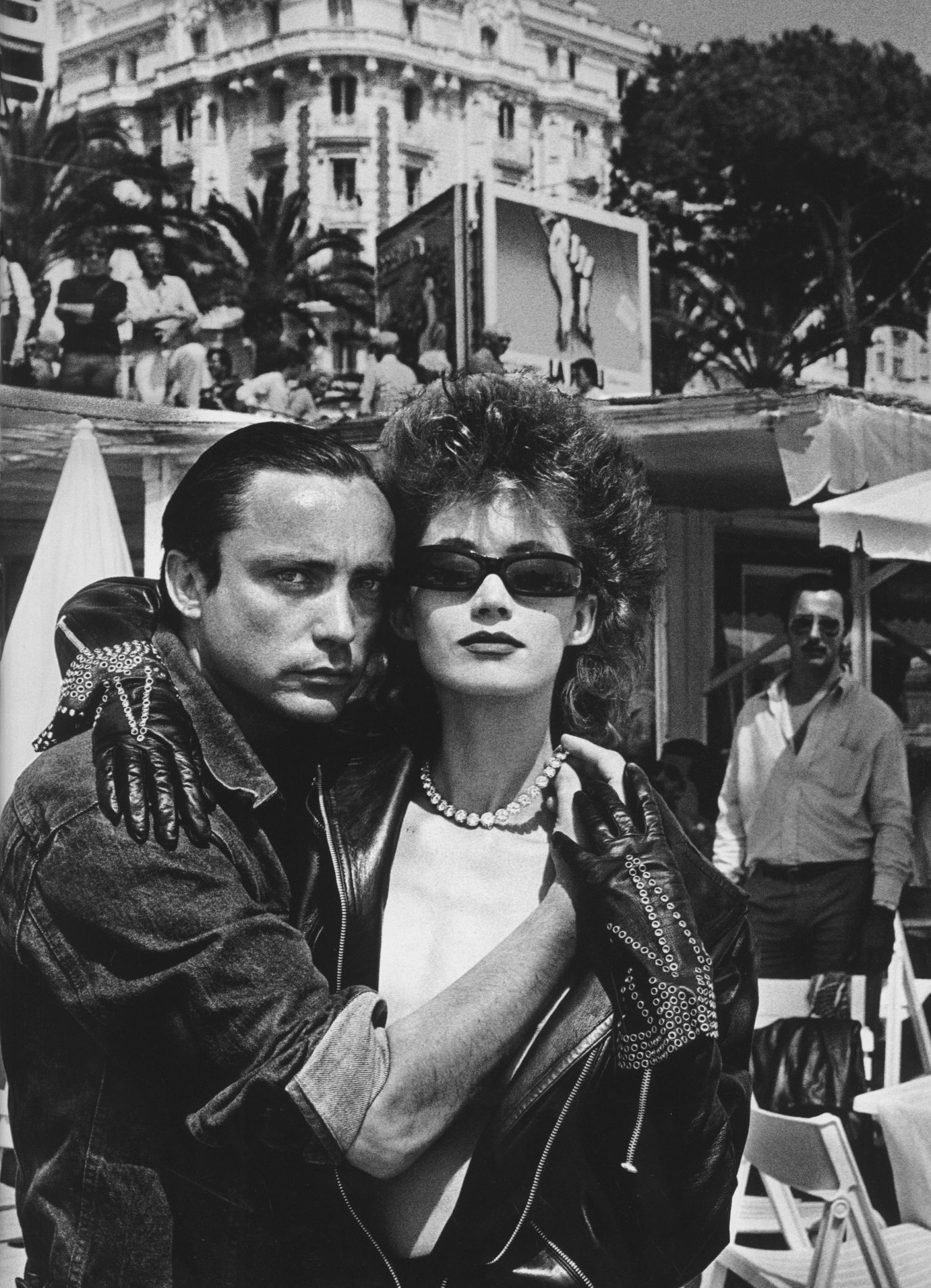 AZZEDINE ALAIA,CANNES,FRENCH VOGUE ,1981,PHOTOGRAPHY HELMUT NEWTON
