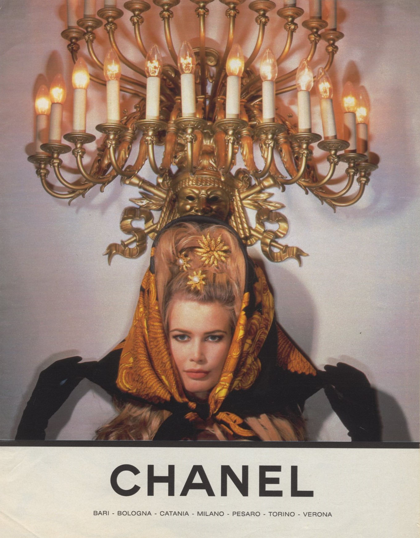 CLAUDIA SCHIFFER | CHANEL AD | PHOTOGRAPHY KARL LAGERFELD | 1990s
