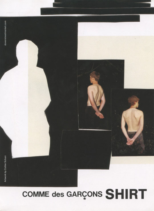 COMME DES GARCONS SHIRT, AD CAMPAIGN, ARTWORK COLLIER SCHORR