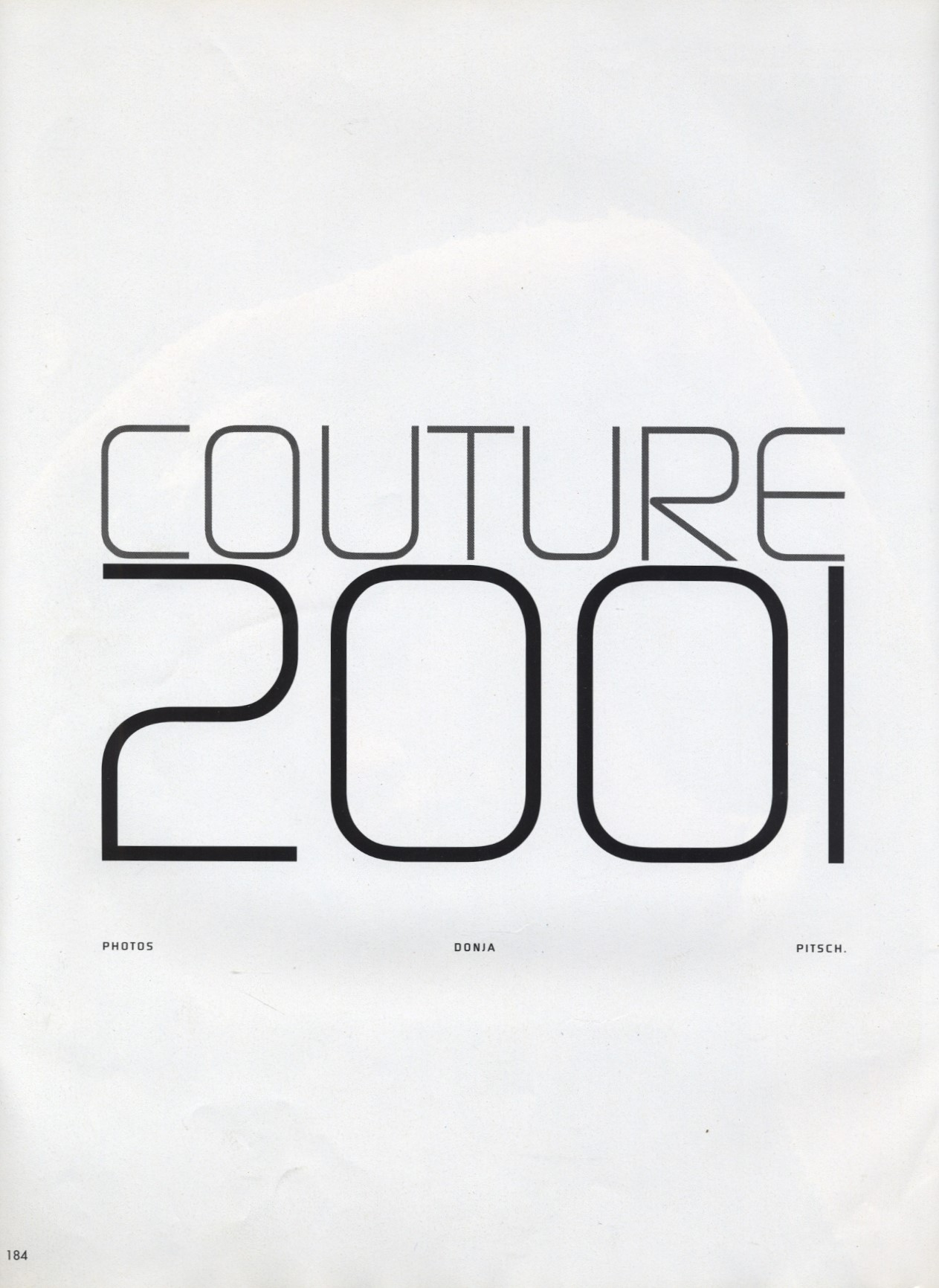 COUTURE 2001 | PHOTOGRAPHY DONJA PITSCH