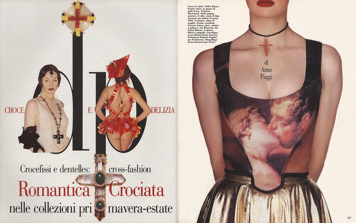 D.P. ANNA PIAGGI | PHOTOGRAPHY ALFA CASTALDI | VOGUE ITALIA N. 512 | APRIL 1993