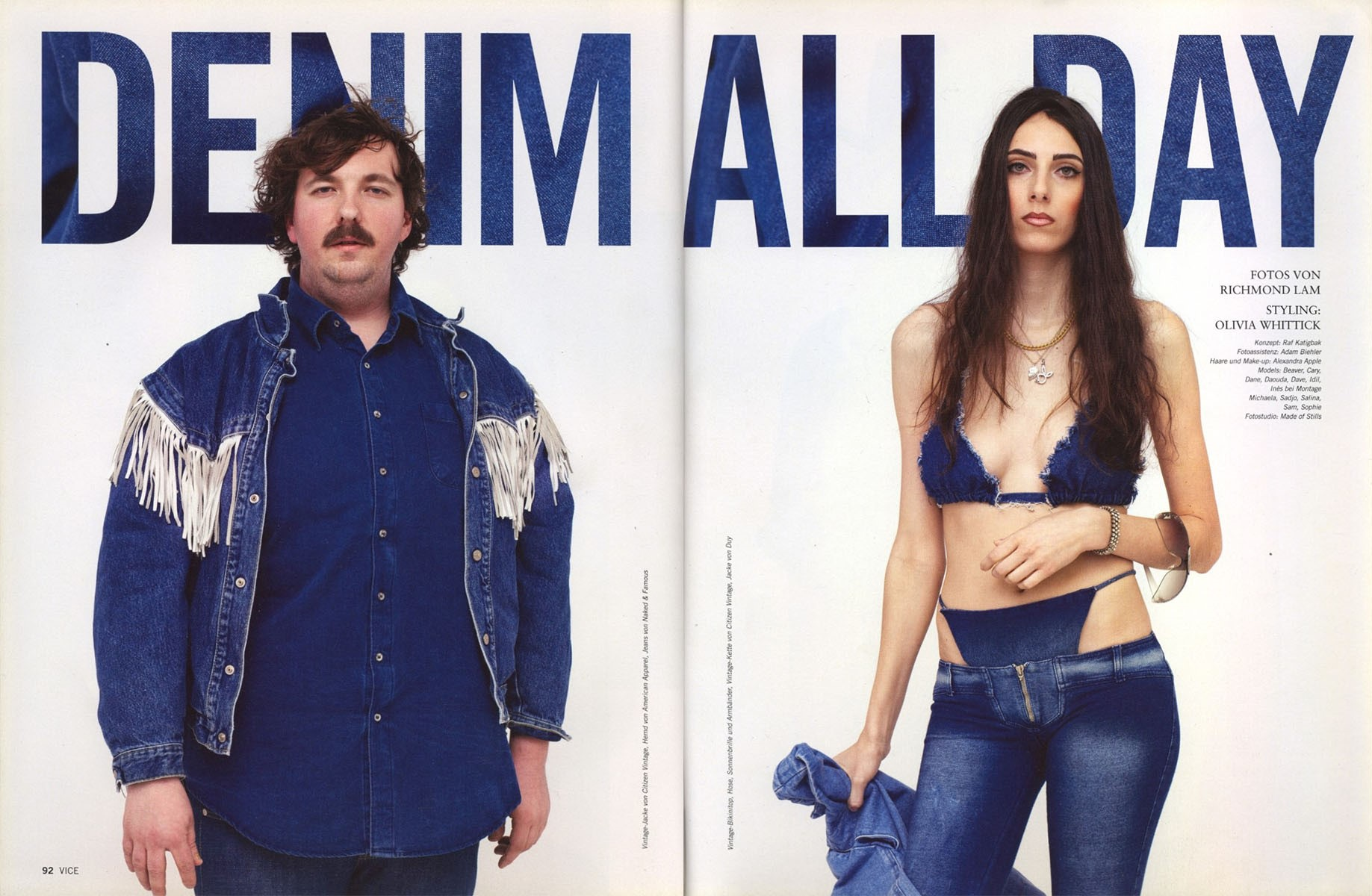 DENIM ALL DAY | PHOTOGRAPHY | VON RICHMOND LAM | VICE MAGAZINE | VOL. 9 NR.2 |  THE FASHION ISSUE | MARCH 2013