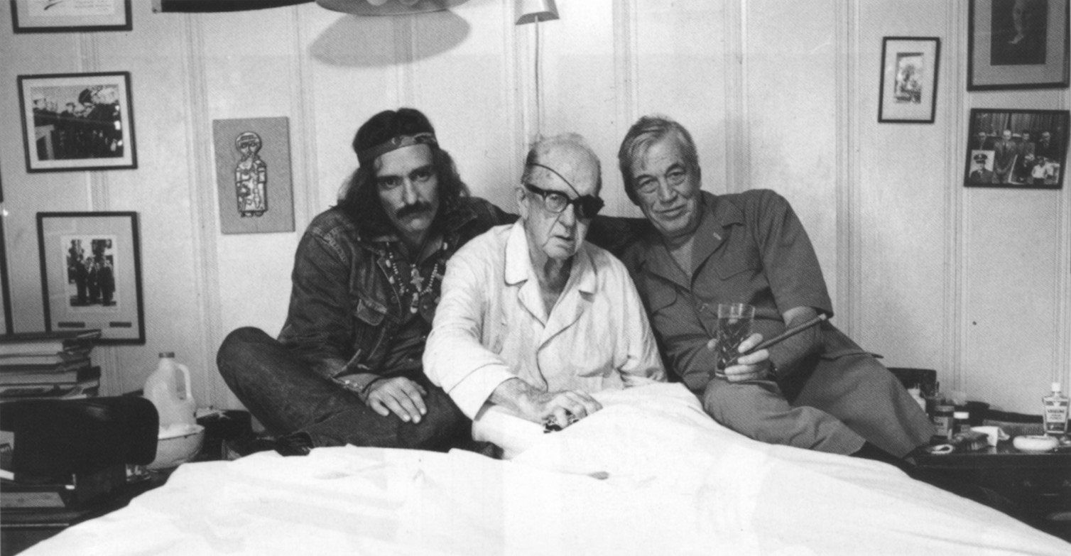 DENNIS HOPPER, JOHN FORD AND JOHN HUSTON | PHOTOGRAPHY VICTOR SKREBNESKI | PALM SPRINGS | CALIFORNIA | 1971