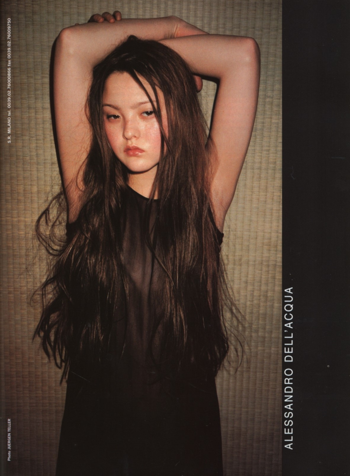 DEVON AOKI | PHOTOGRAPHY JUERGEN TELLER | ALESSANDRO DELL'ACQUA AD CAMPAIGN | VOGUE ITALIA N.576 | AUGUST 1998
