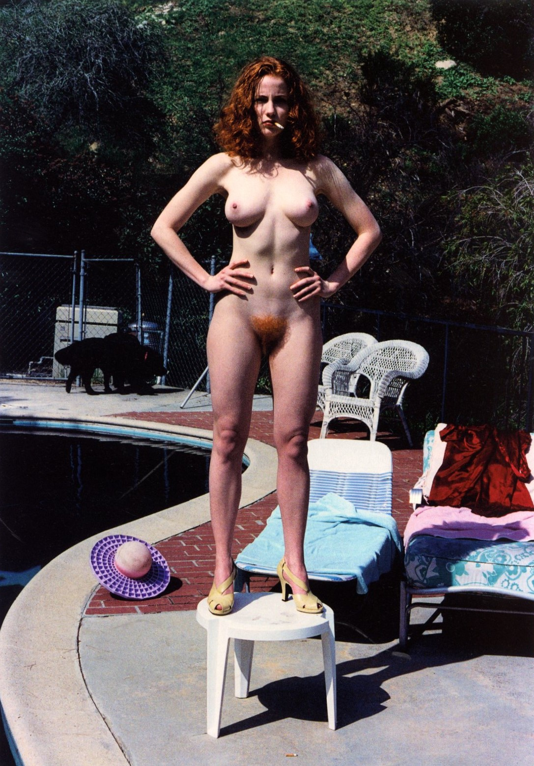DOMESTIC NUDE IX: THE RED HEAD LOS ANGELE| CALIFORNIA 1992 PHOTOGRAPHY HELMUT NEWTON