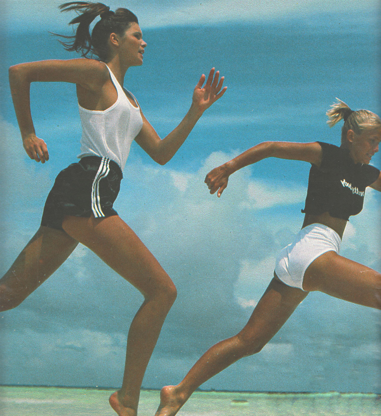 ELLE MACPHERSON AND MARIE CHRISTINE DEBOURSE | PHOTOGRAPHY GILLES BENSIMON | ELLE FRANCE | JULY 1984