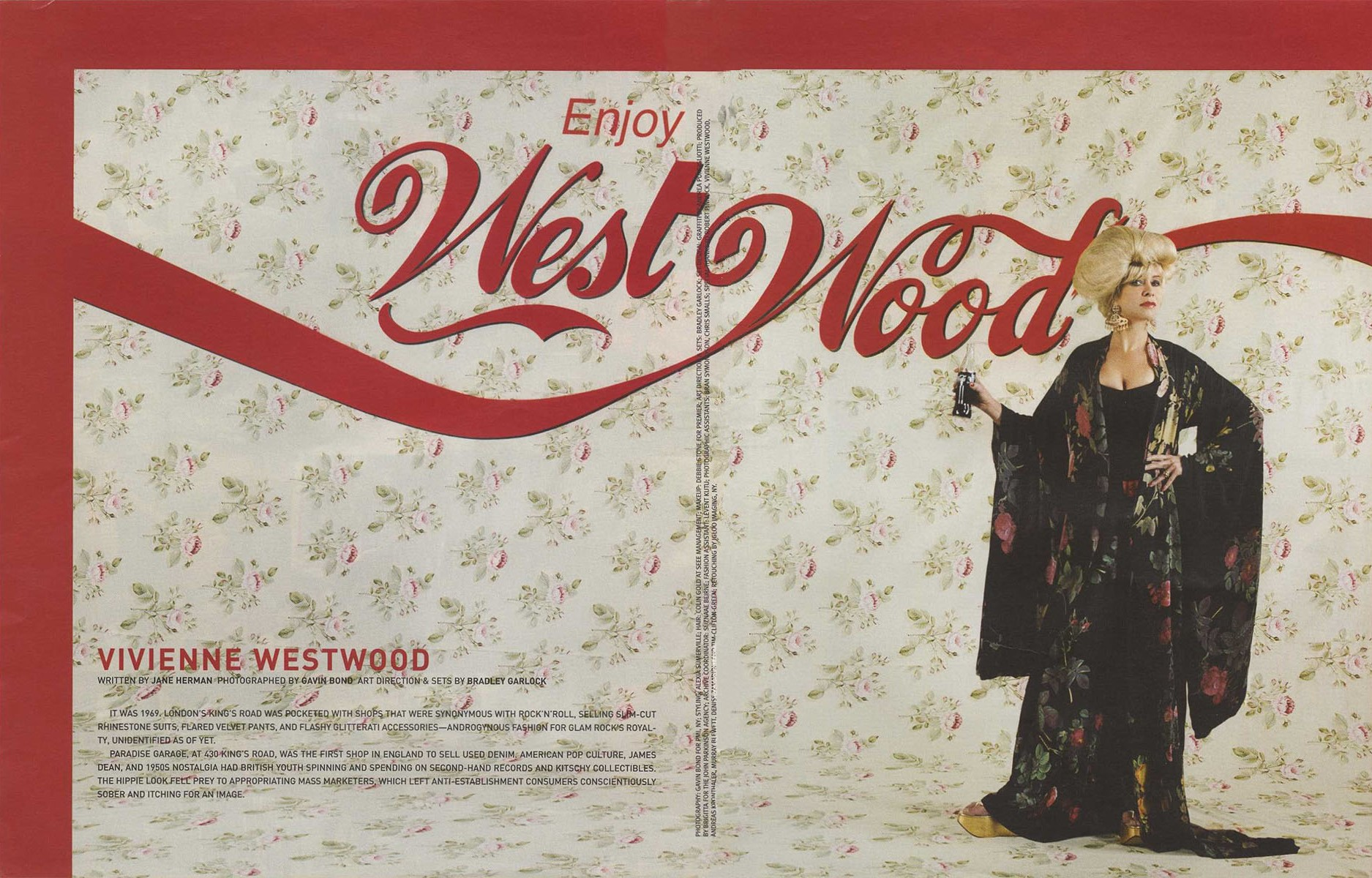ENJOY WESTWOOD | VIVIENNE WESTWOOD | PHOTOGRAPHY GAVIN BOND | ART DIRECTIONS AND SETS BRADLEY GARLOCK | FLAUNT MAGAZINE