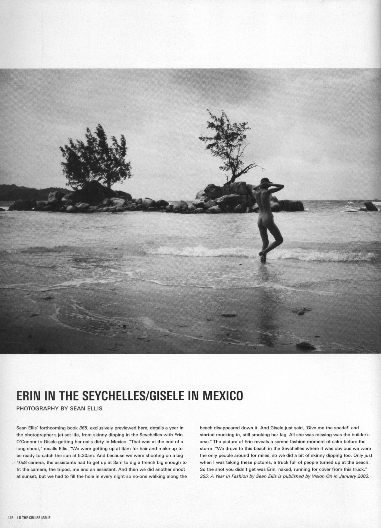 ERIN IN THE SEYCHELLES/GISELE IN MEXICO | PHOTOGRAPHY SEAN ELLIS | i-D MAGAZINE NO.226 | DECEMBER 2002
