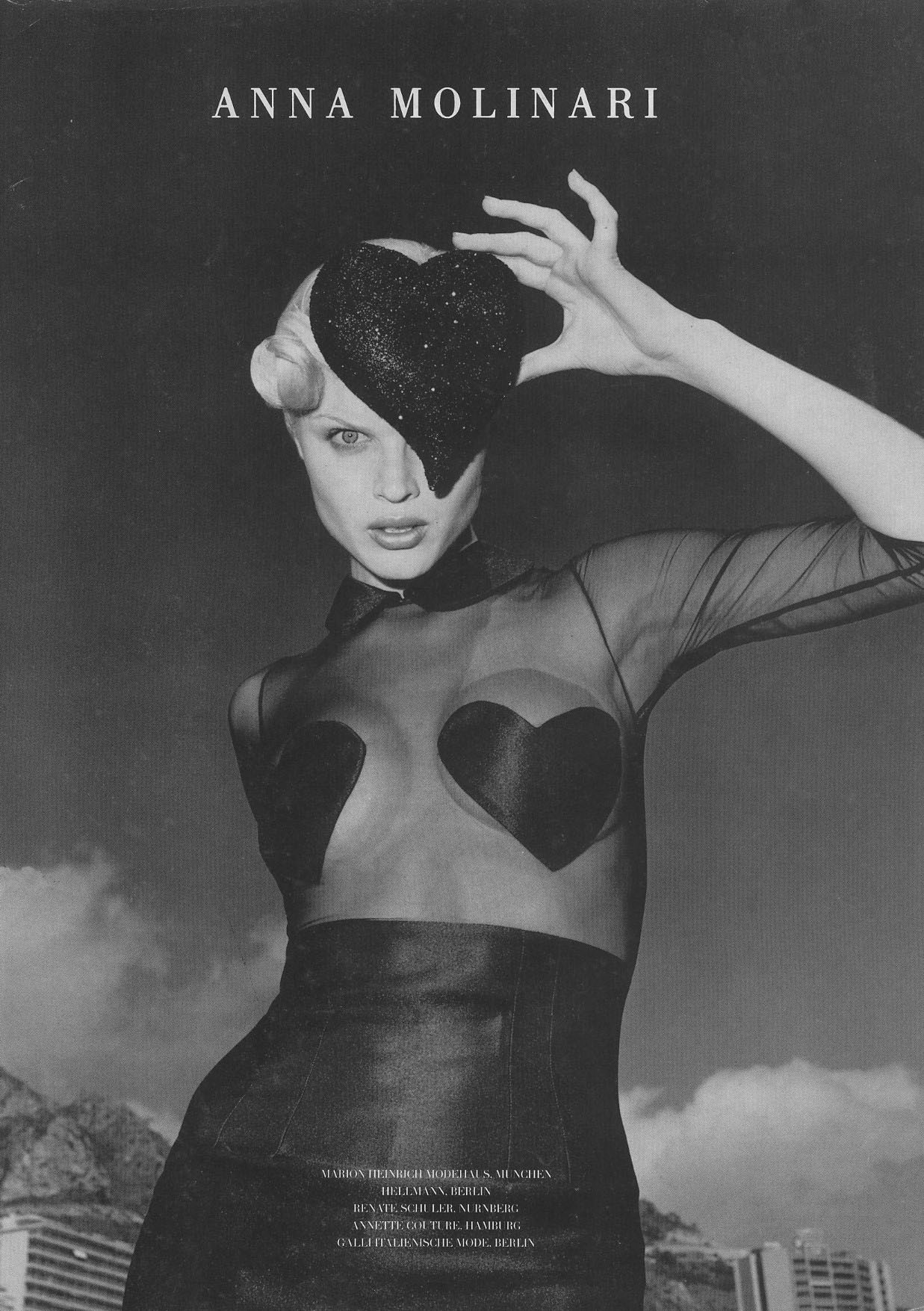 EVA HERZIGOVA | ANNA MOLINARI AD | FALL/WINTER1995 | PHOTOGRAPHY HELMUT NEWTON