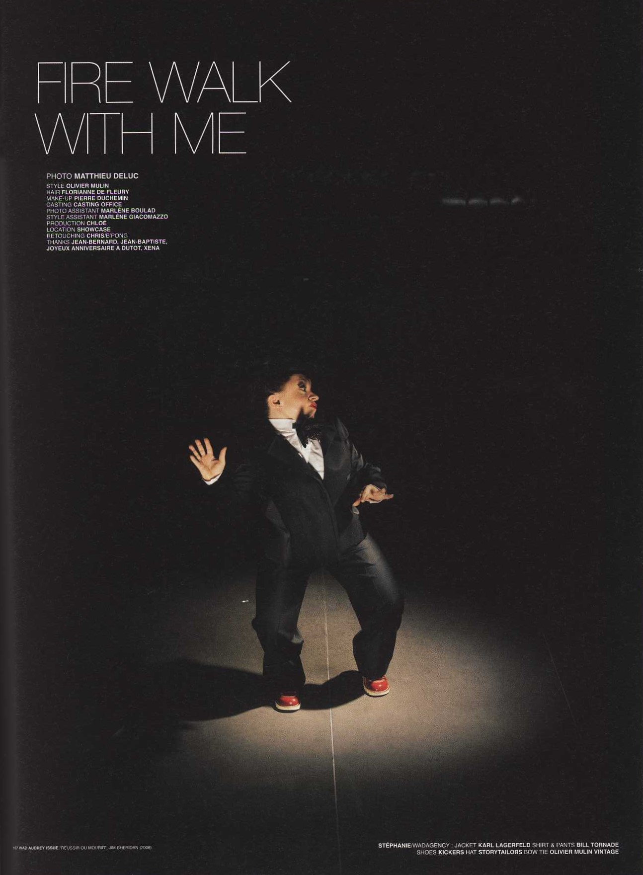 FIRE WALK WITH ME | PHOTOGRAPHY MATTHIEU DELUC | STYLING OLIVIER MULIN | WAD 34 | AUTUMN 2007