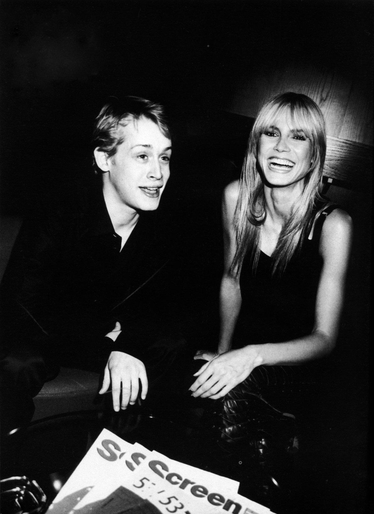 HEIDI KLUM AND MACAULAY CULKIN | PHOTOGRAPHY ROXANNE LOWIT | VOGUE DEUTSCH | APRIL 2003
