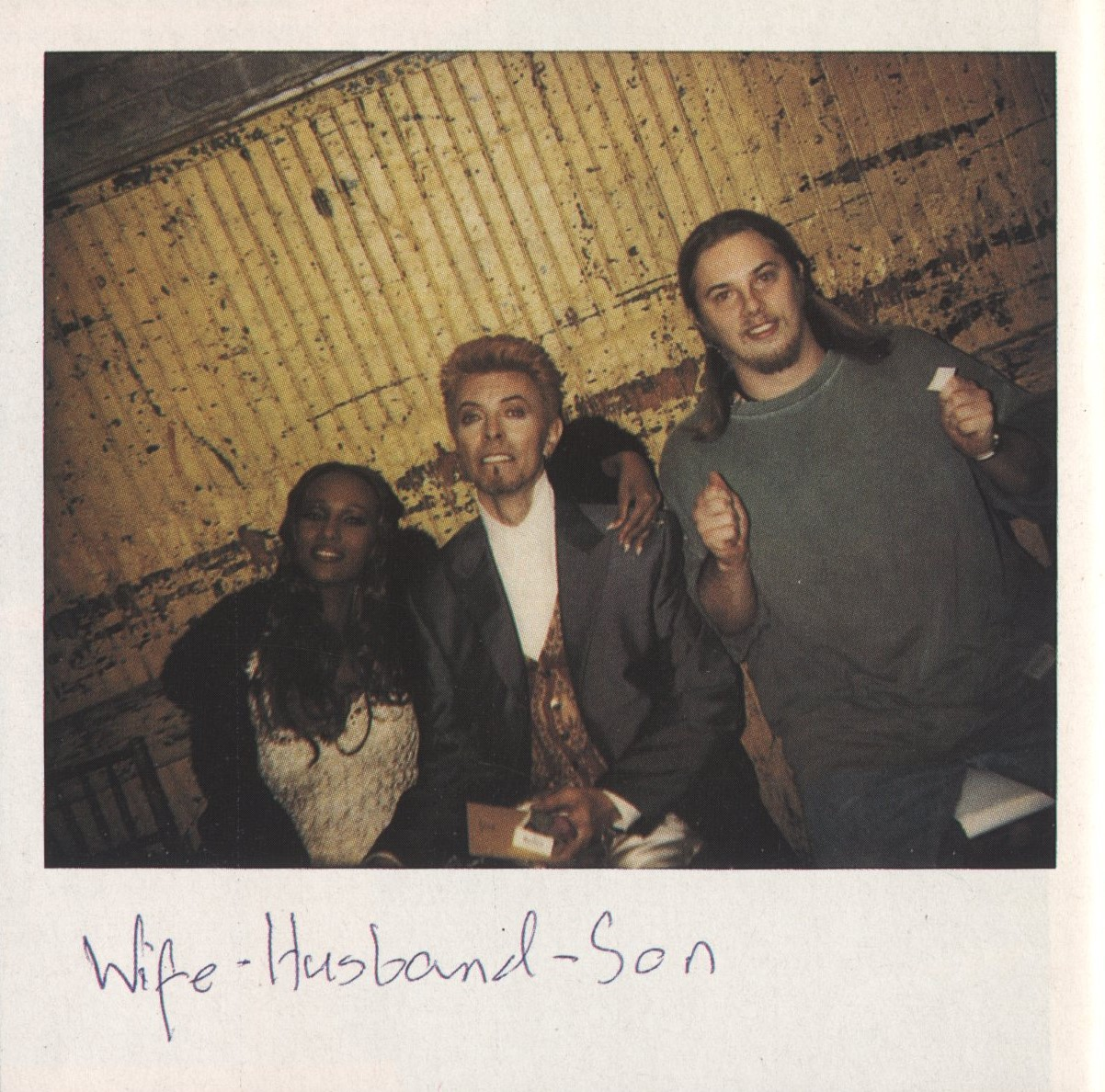 IMAN, DAVID BOWIE AND DUNCAN JONES DAVID BOWIE'S 50TH BIRTHDAY PERSONAL POLAROID DIARY DAZED & CONFUSED ISSUE #28