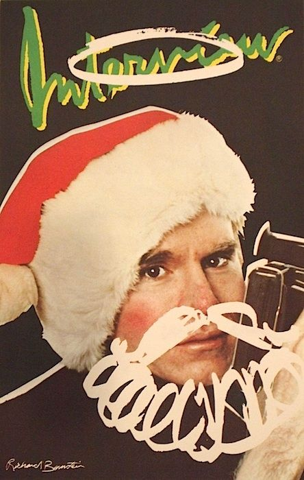 INTERVIEW CHRISTMAS CARD SIGNED BY ANDY WARHOL PHOTOGRAPHY BY BERRY BERENSON