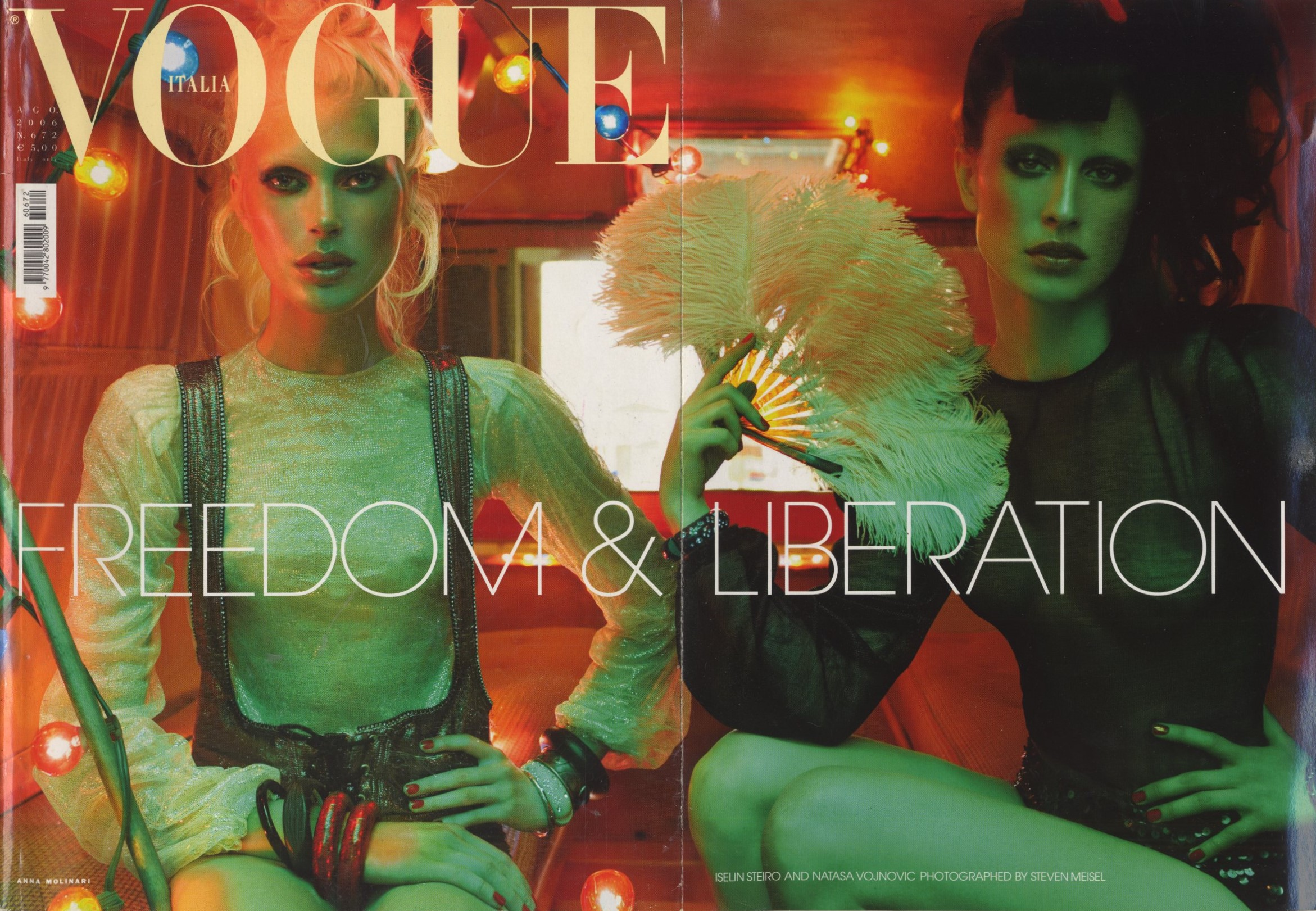 ISELIN STEIRO AND NATASA VOJNOVIC | PHOTOGRAPHY STEVEN MEISEL | VOGUE ITALIA N.672 | AUGUST 2006