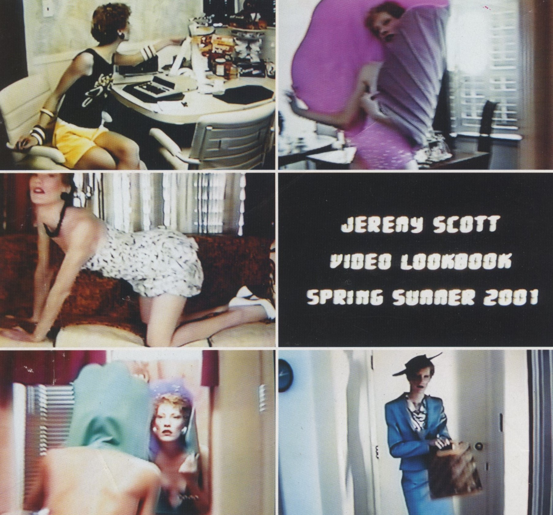 JEREMY SCOTT | SPRING/SUMMER 2001 | VIDEO STILLS MARTINE BOULARD