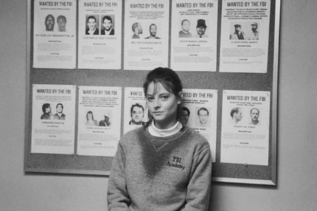 JODIE FOSTER ON THE SET OF THE SILENCE OF THE LAMBS DIRECTED BY JONATHAN DEMME, 1991