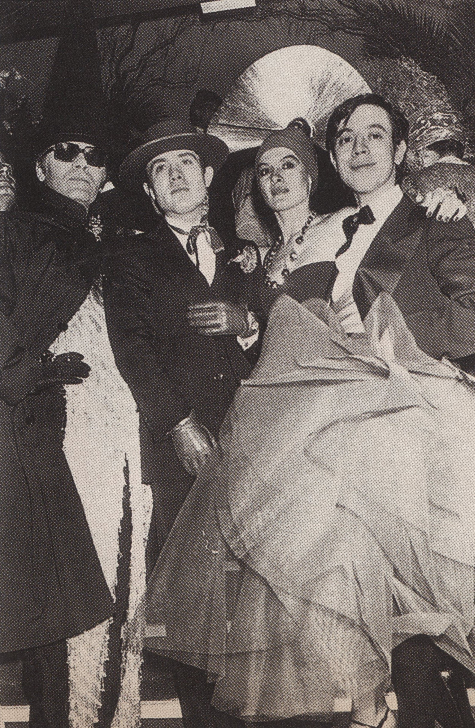 KARL LAGERFELD, RAFAEL LOPEZ-SANCHEZ, PALOMA PICASSO AND JAVIER ARRUYELO AT LOULOU KLOSSOWSKI'S MAGIC CITY BALL PARIS 1978 W OCTOBER 1999