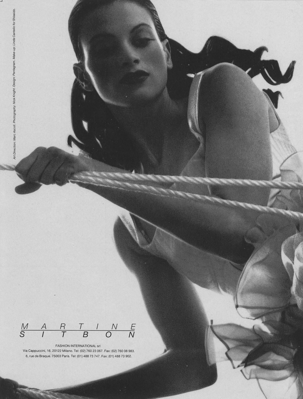 KRISTEN MCMENAMY | MARTINE SITBON AD | PHOTOGRAPHY NICK KNIGHT | ART DIRECTION MARC ASCOLI | 1990