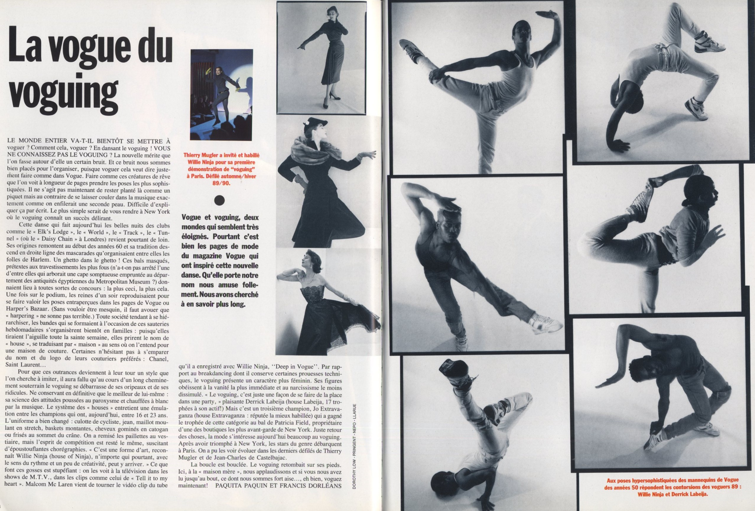 LA VOGUE DU VOGUING | VOGUE PARIS N.696 | MAY 1989