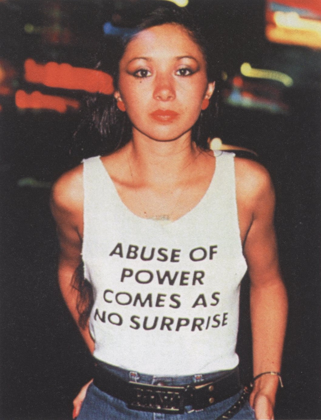 LADY PINK | PHOTOGRAPHY LISA KAHANE | T-SHIRT JENNY HOLZER | 1983