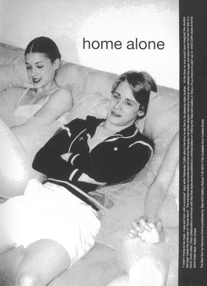 MACAULAY CULKIN, PHOTOGRAPHY HARMONY KORINE,  DUTCH MAGAZINE #25, JANUARY/FEBRUARY 2000