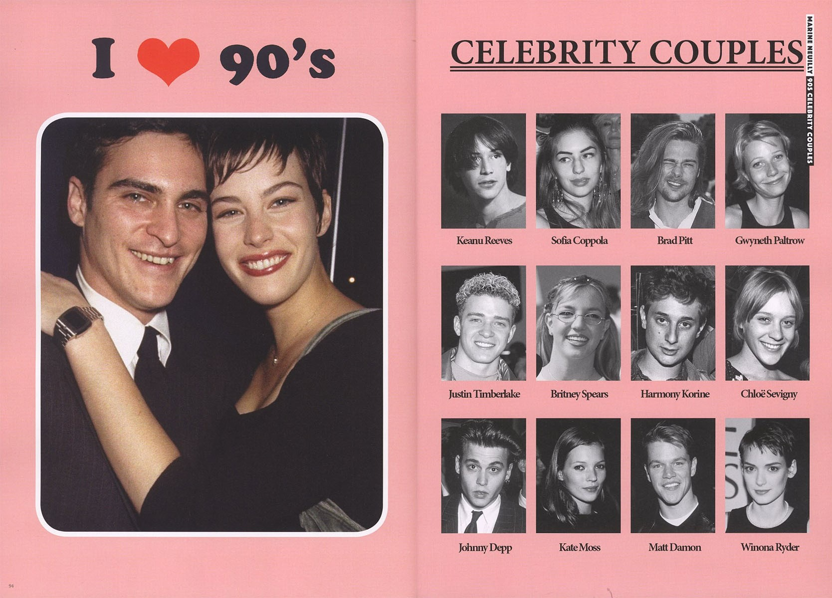 MARINE NEUILLY | 90S CELEBRITY COUPLES | FANPAGES | ISSUE 2