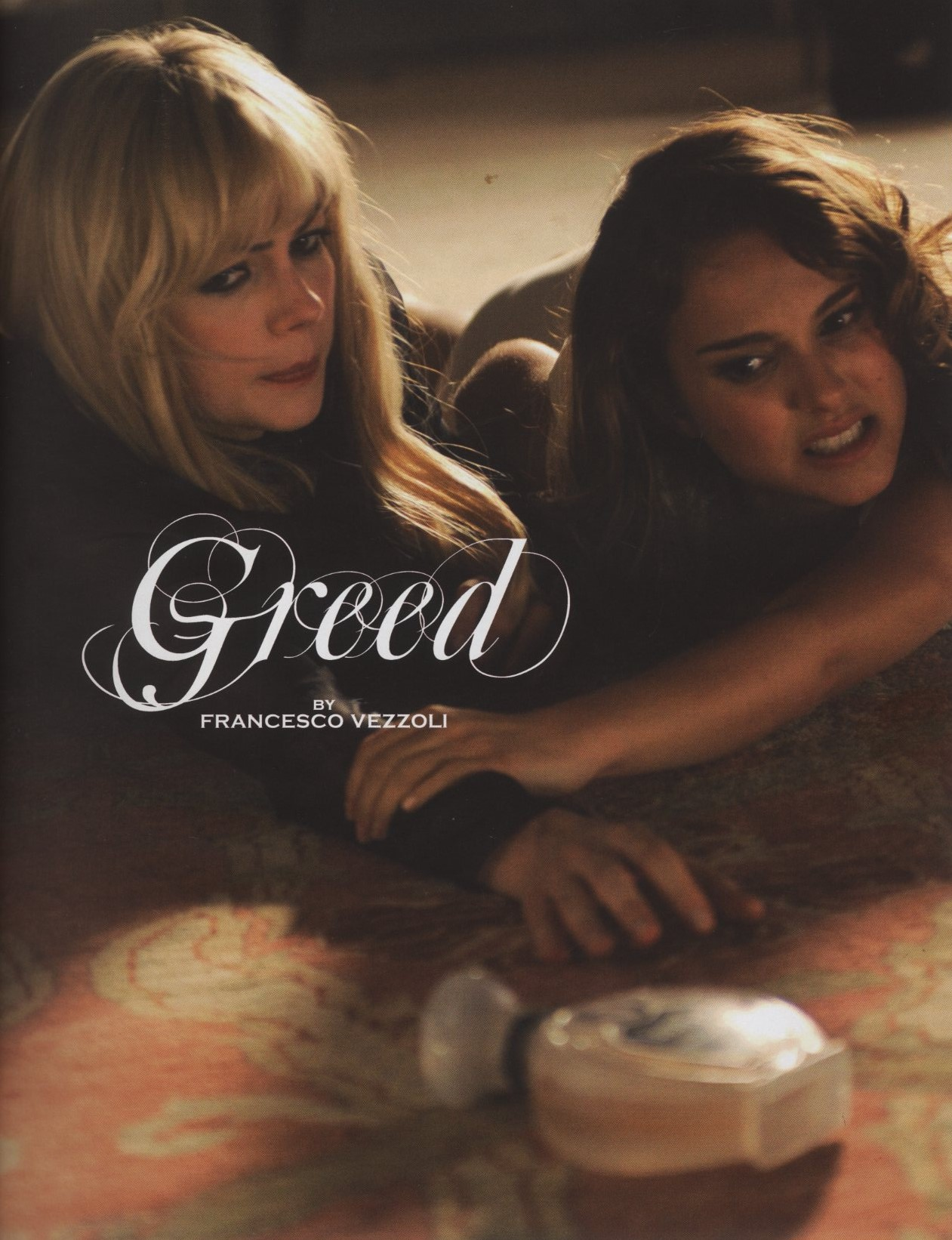 MICHELLE WILLIAMS AND NATALIE PORTMAN GREED BY FRANCESCO VEZZOLI SELF SERVICE SPRING/SUMMER 2009