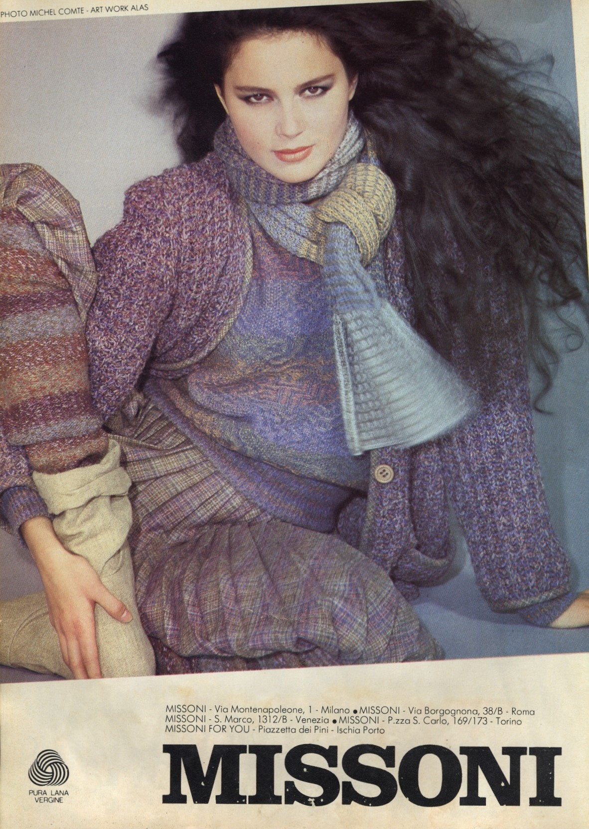 MISSONI AD CAMPAIGN | PHOTOGRAPHY MICHEL COMTE | COSMOPOLITAN ITALY | OCTOBER 1981