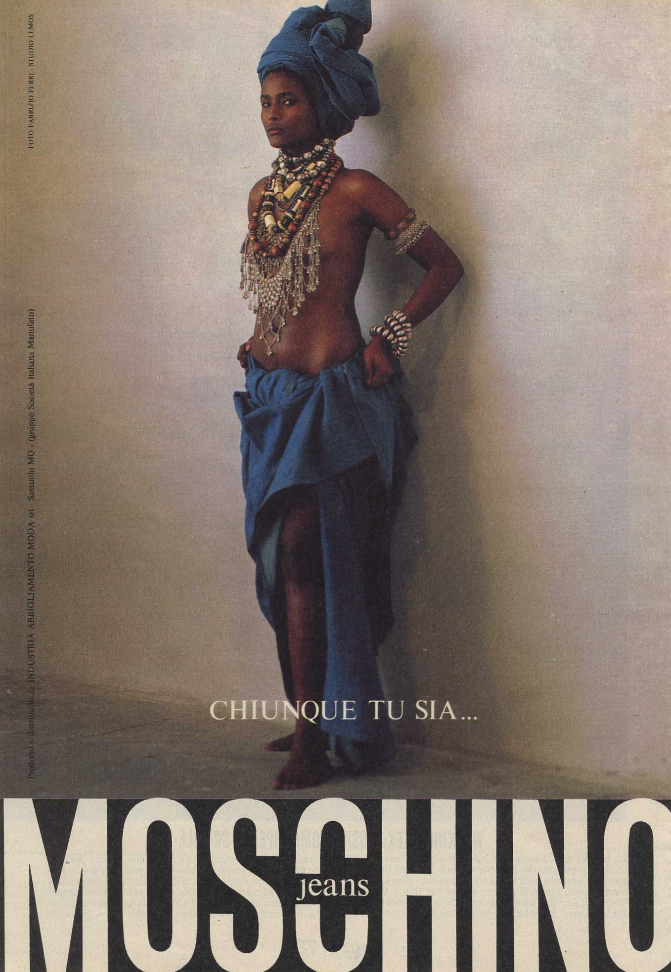 MOSCHINO JEANS | AD | PHOTOGRAPHY FABRIZIO FERRI | MAX | MARCH 1988