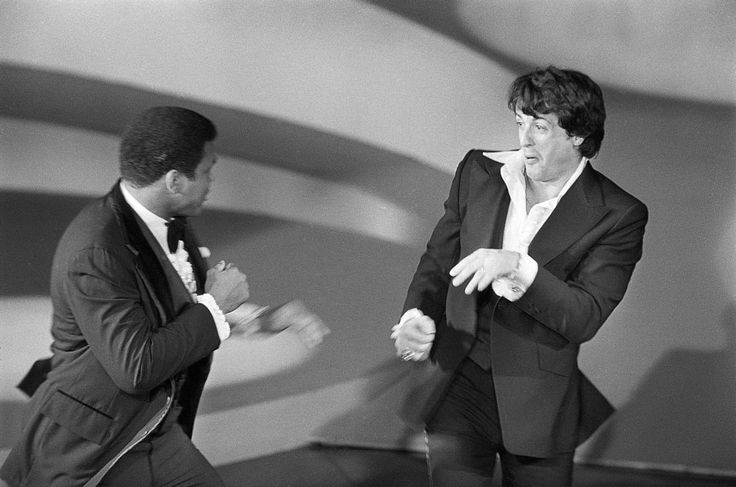 MUHAMMAD ALI AND SYLVESTER STALLONE, ACADEMY AWARDS 1977