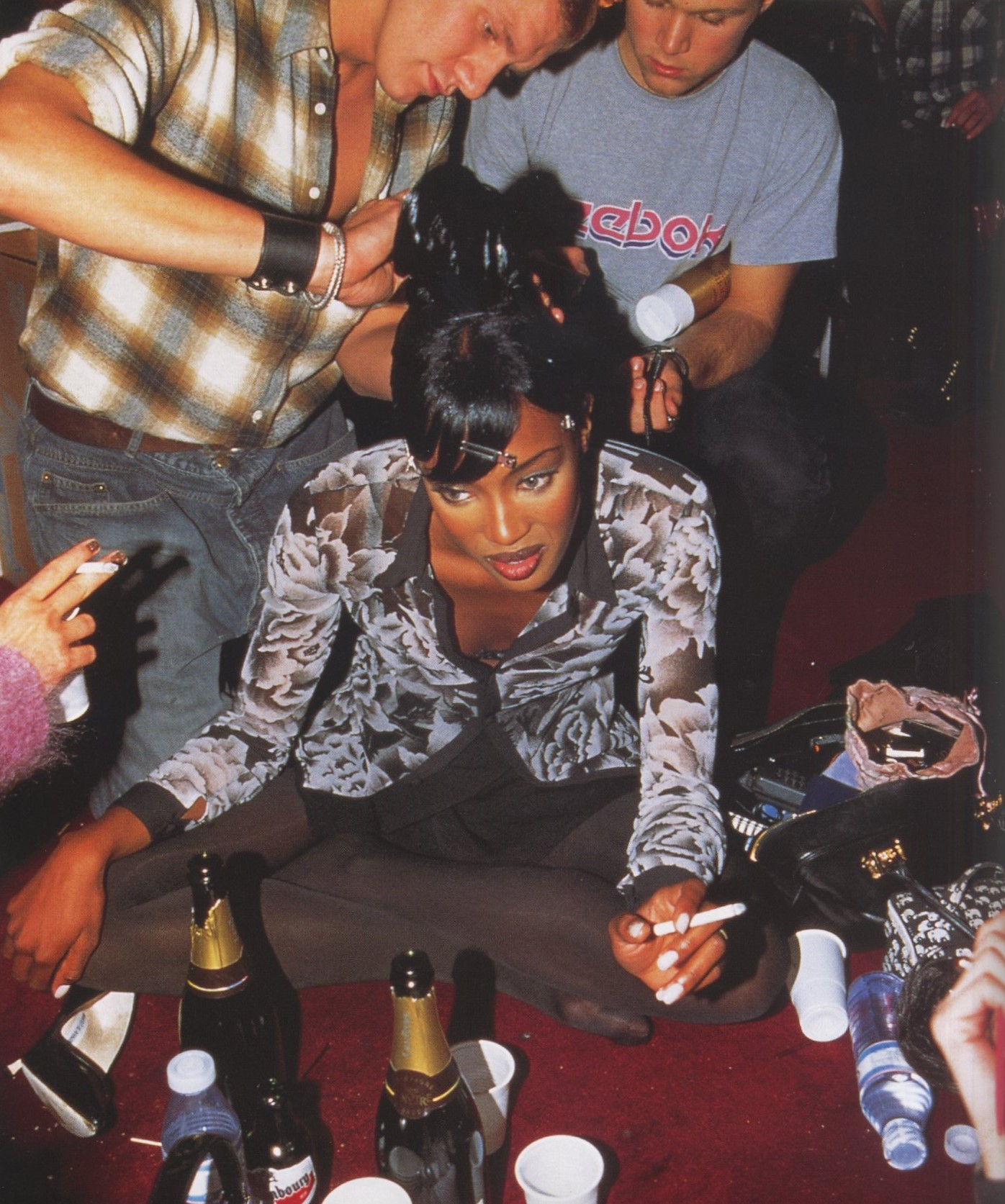 NAOMI CAMPBELL | THIERRY MUGLER | PRET-A-PORTER | BACKSTAGE | MARCH 1995