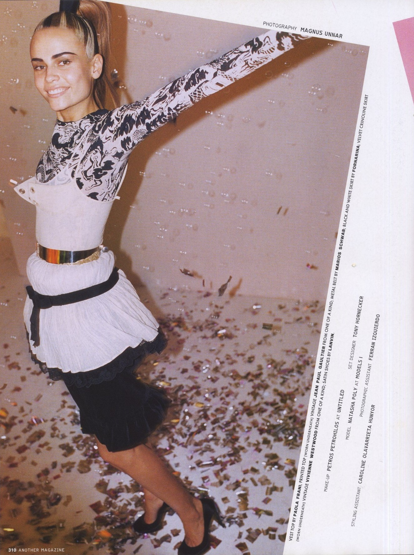 NATASHA POLY   PHOTOGRAPHY MAGNUS UNNAR   STYLING TAL BRENER   ANOTHER MAGAZINE  ISSUE 10   SPRING/SUMMER 2006