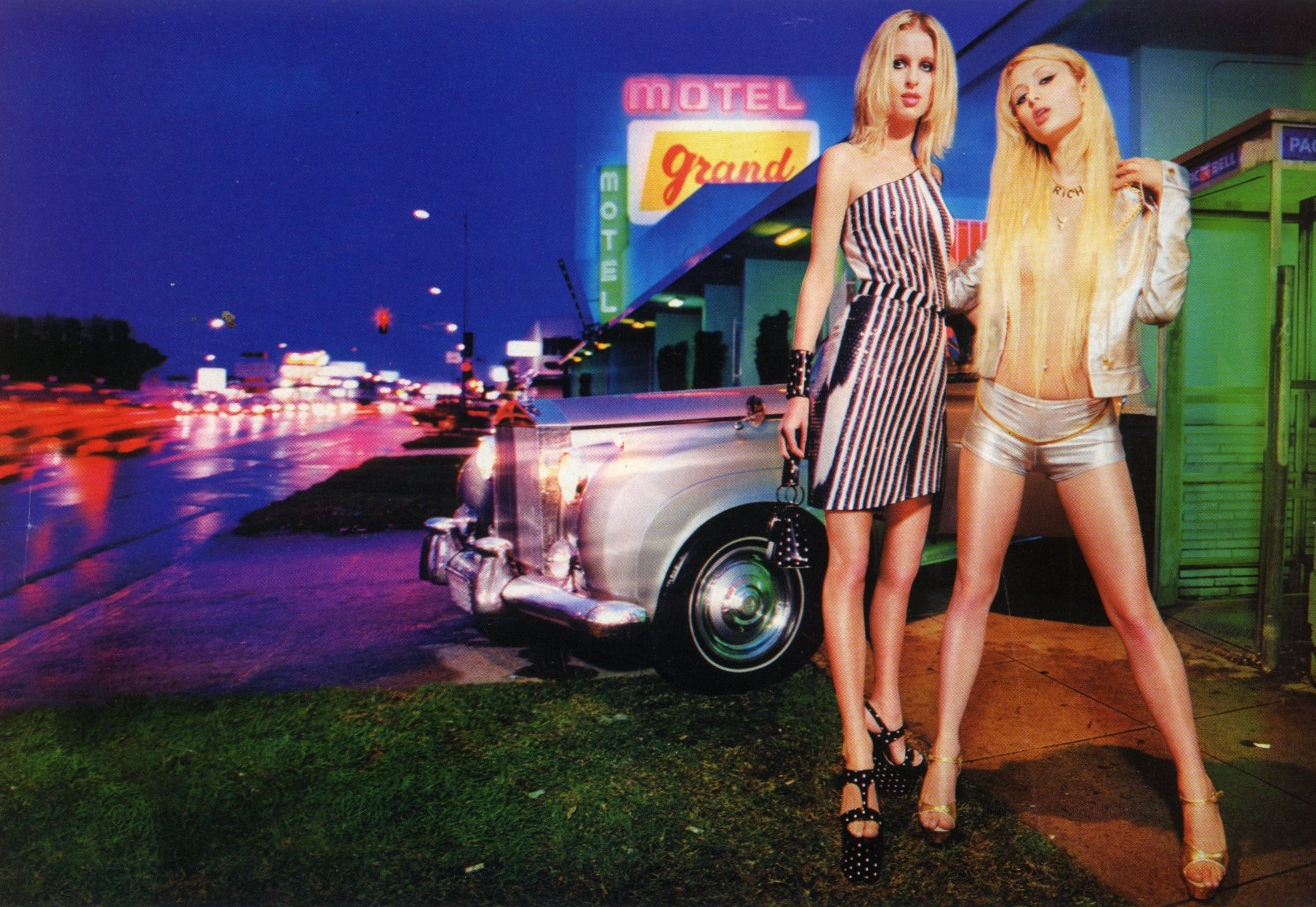 PARIS HILTON AND NICKY HILTON | PHOTOGRAPHY DAVID LACHAPELLE | PHOTO ITALY | JUNE 2001