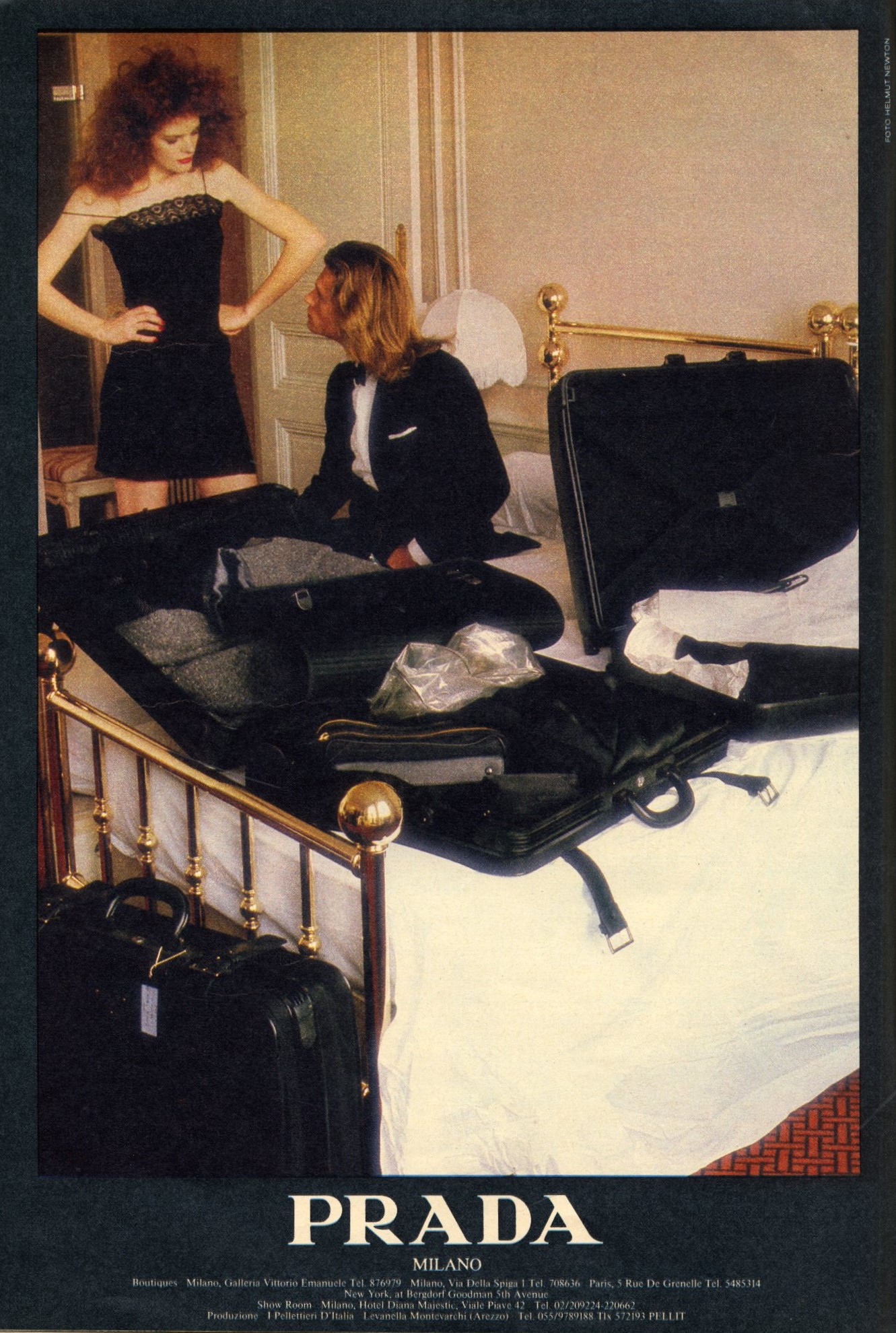 PRADA AD CAMPAIGN | PHOTOGRAPHY HELMUT NEWTON | MAX N.1 | MARCH 1985