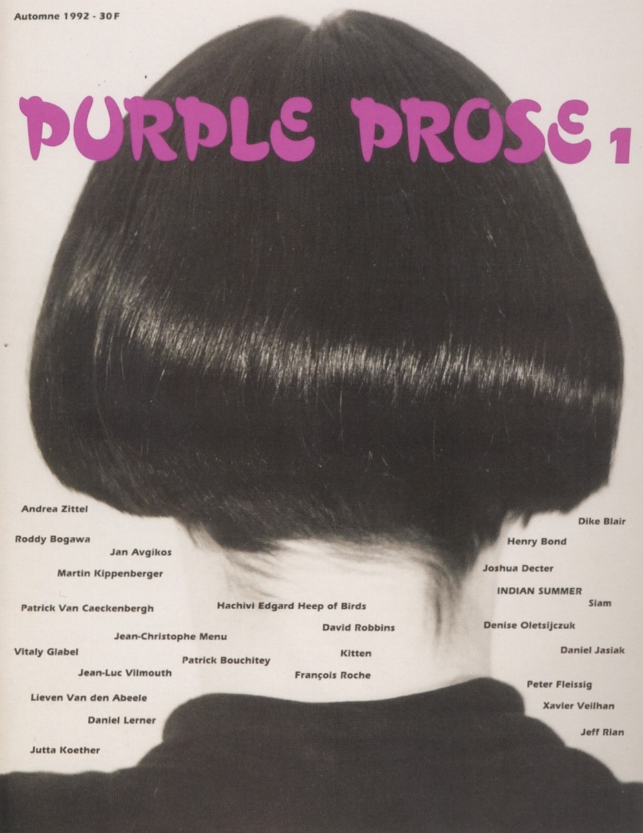 PURPLE PROSE N°1, PHOTOGRAPHY JEANNE DUNNING, FALL 1992