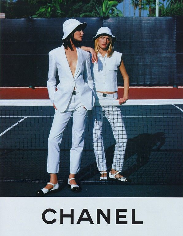 SHALOM HARLOW AND AMBER VALLETTA | PHOTOGRAPHY KARL LAGERFELD | CHANEL AD CAMPAIGN | SPRING/SUMMER 1996