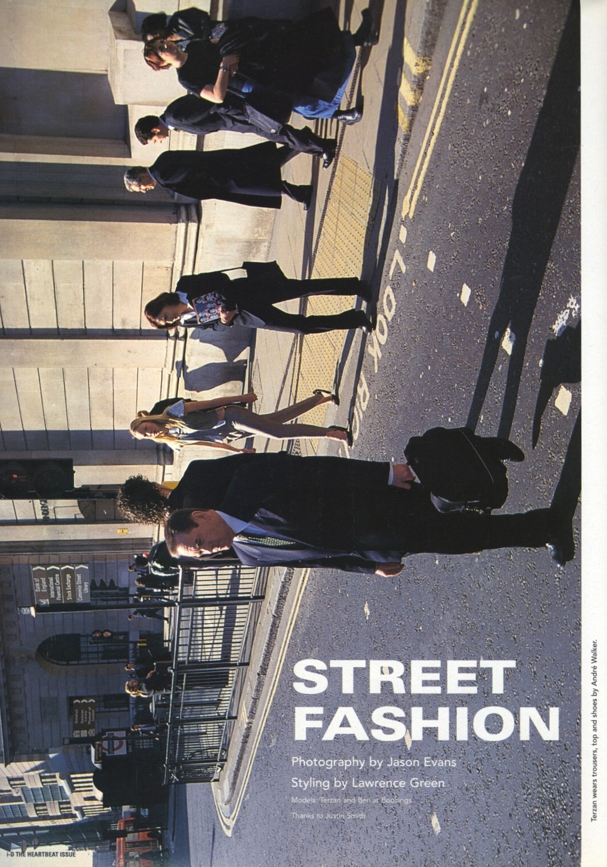 STREET FASHION | PHOTOGRAPHY JASON EVANS | i-D MAGAZINE NO.199 | THE HEARTBEAT ISSUE | JULY 2000