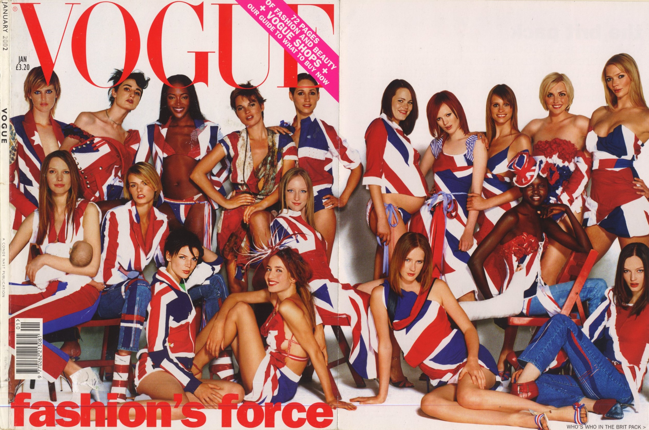 THE BRIT PACK | UK VOGUE | JANUARY 2002 | PHOTOGRAPHY MARIO TESTINO