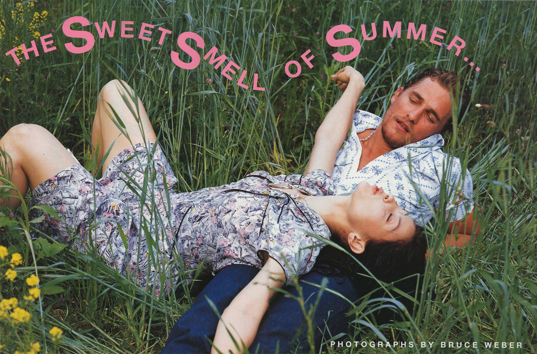 THE SWEET SMELL OF SUMMER | PHOTOGRAPHY BRUCE WEBER | VOGUE ITALIA N.562 | JUNE 1997